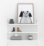 Print | 'A Bear' by Coco Lapine | Black and White