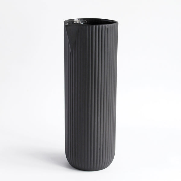 Stoneware Column Jug | Grey