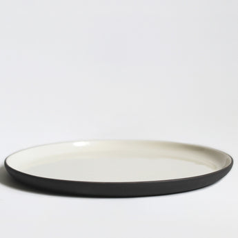 Stoneware Plate | 26cm | Grey and White