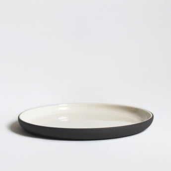 Stoneware Plate | 20cm | Grey and White