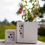 Bee Pot | Concrete Planter & Bee Hotel | White