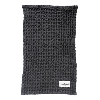 Organic Cotton Wash Cloth | Waffle Weave | Dark Grey
