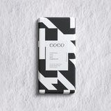 Christmas Spice | Milk Chocolate Bar by COCO Chocolatier | Black and White