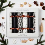 Luxury Monochrome Christmas Crackers | Black and White