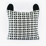 Racoon Cushion Cover by Tinyppl | Black and White
