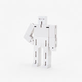 Wooden Robot Toy | Small Cubebot by Areaware | White