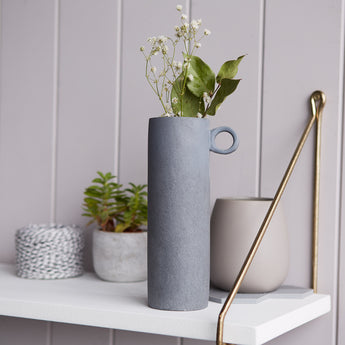 Concrete Loop Vase | Grey