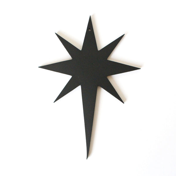 Traditional Star Decoration | Rubber | Black