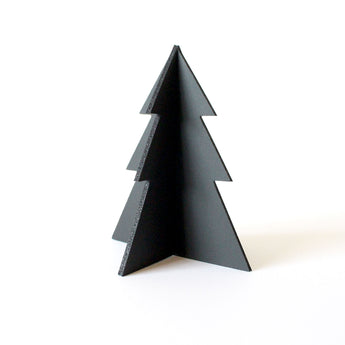 Standing Christmas Tree Decoration | Rubber | Black