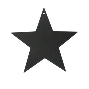 Medium Star Decoration | Rubber | Black