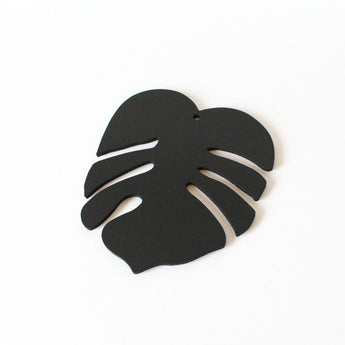 Monstera Leaf Decoration | Rubber | Black