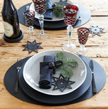 Scandi Star Decoration | Rubber | Black