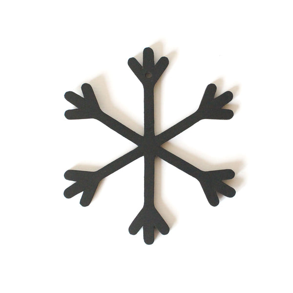 Snowflake Decoration | Rubber | Black