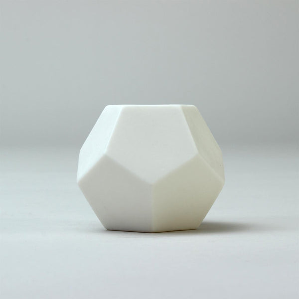 Handmade Geometric Pot | 'Dodecahedron' | White