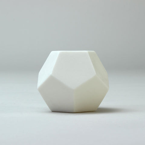 Geometric Ceramic Pot | 'Dodecahedron' | White