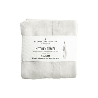 Organic Cotton Tea Towel | White