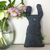 Handmade Rabbit Toy | Organic Cotton | Dark Grey