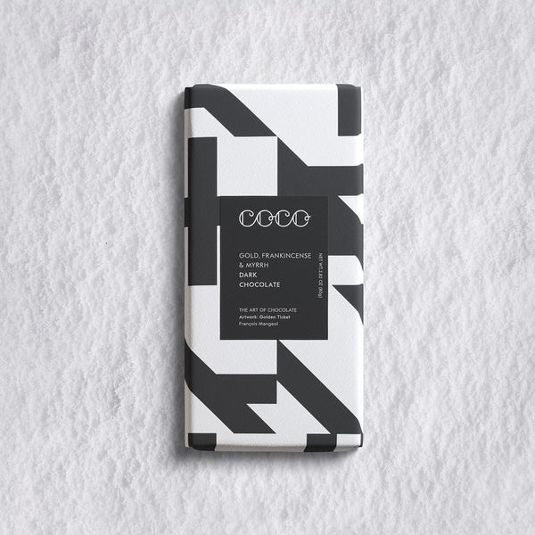 Gold, Frankincense & Myrrh | Dark Chocolate Bar by COCO Chocolatier
