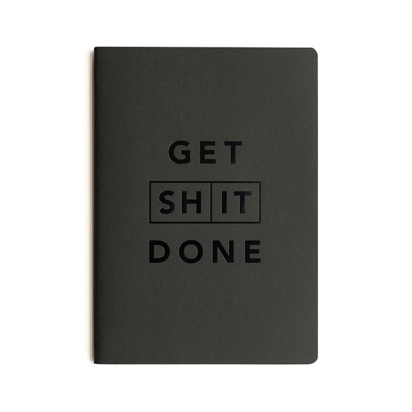 Get Shit Done Classic To-Do-List Notebook | A5 | Black