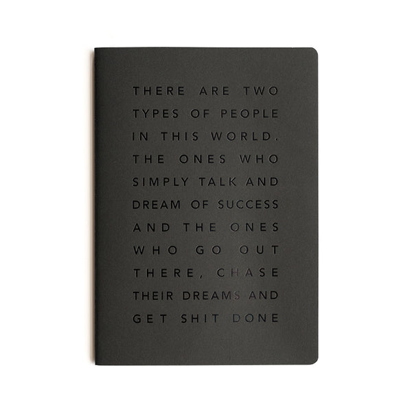 Get Shit Done Manifesto To-Do-List Notebook | A5 | Black
