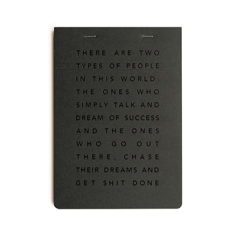 Get Shit Done Manifesto To-Do-List Desk Pad | A5 | Black