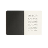 Get Shit Done Minimal To-Do-List Notebook | A6 | Black