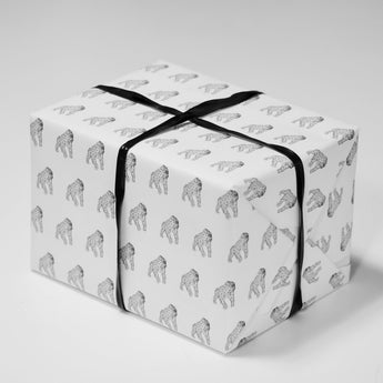 Gus the Gorilla Wrapping Paper | Black and White