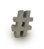 Concrete Hashtag | # | Grey