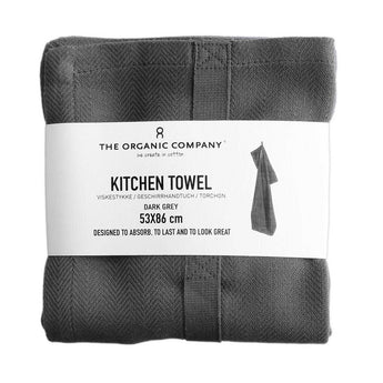 Organic Cotton Tea Towel | Dark Grey