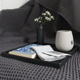 Large Square Tray | Rubber | Black