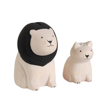 Wooden Animals by T-Lab Japan | Lion Set