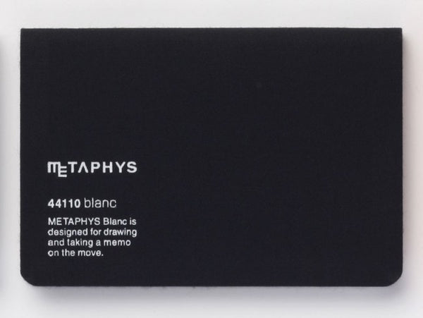 Metaphys Blanc Pocket Notebook 44110 | Black
