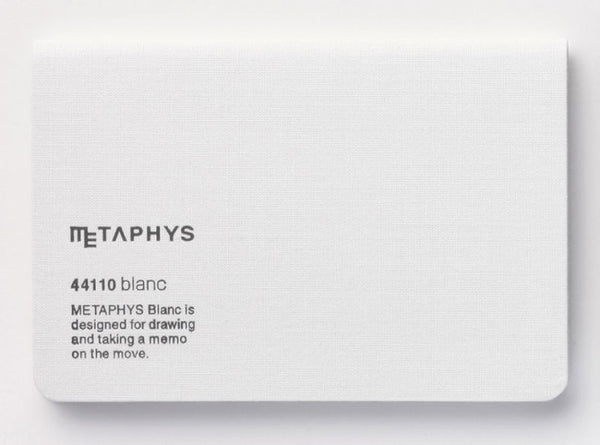Metaphys Blanc Pocket Notebook 44110 | White
