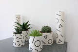 Ceramic 'Speckle' Pot | Large | Black and White