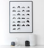 Print | 'Mountain ABC' by Coco Lapine | Black and White