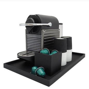 'Nespresso' Tray | Rubber | Black