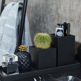 Small Rectangular Pot | Rubber | Black