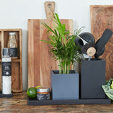 Large Rectangular Pot | Rubber | Black