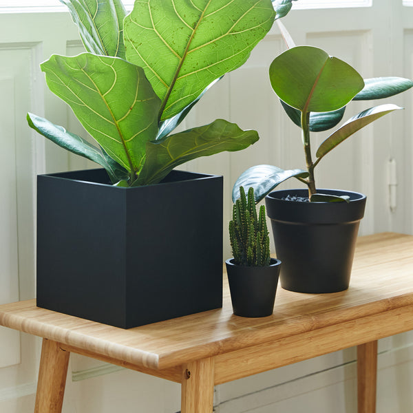 Extra Large Square Pot | Rubber | Black