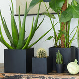 Large Square Pot | Rubber | Black