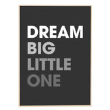 Print (Exclusive) | 'Dream Big Little One' by Gayle Mansfield Designs | Grey on Black