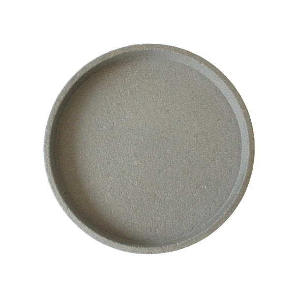 Round Concrete Tray | Grey