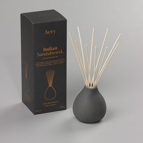 Luxury Reed Diffuser | Indian Sandalwood | Black