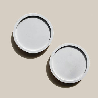 Set of 2 Mini Coasters | Jesmonite | Grey