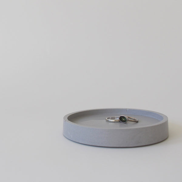 Round Trinket Tray | Jesmonite | Grey