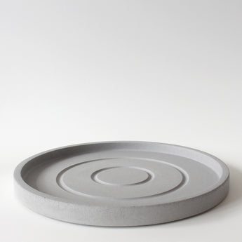 Large Round Tray | Jesmonite | Grey