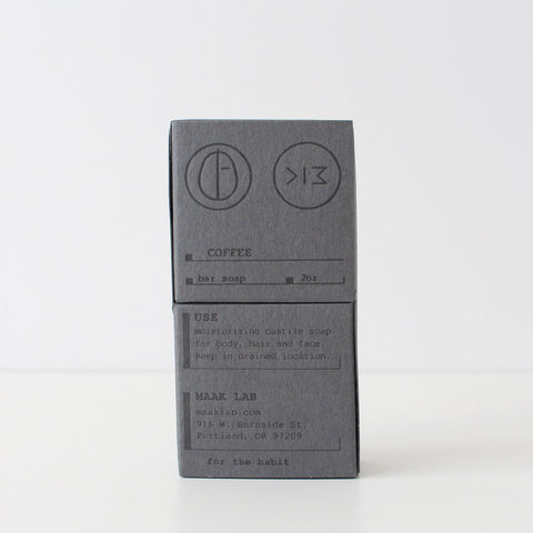 Maak Lab | Coffee Bar Soap  | Grey