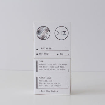 Maak Lab | Eucaler Bar Soap  | White