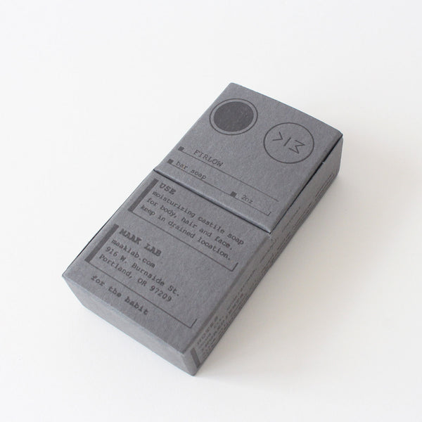 Maak Lab | Firlow Bar Soap  | Grey