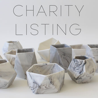 Unique Marbled Ceramic Pots | *50% of sale donated to charity*